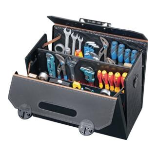 WerkzeugtascheB.460xT.210xH.340mm 33l Rindleder schwarzMittelw. CP-7 Stecksyst.