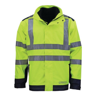 Wetter-,Flamm- u. Warnschutzjacke Gr. M gelb/blau 98% Poyester/2% Carbon jetztbilligerkaufen