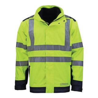 Wetter-,Flamm- u. Warnschutzjacke Gr. XXL gelb/blau 98% Poyester/2% Carbon