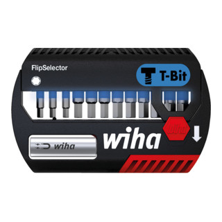 "Wiha Bit Set FlipSelector T-Bit 25 mm Sechskant 13-tlg. 1/4"""