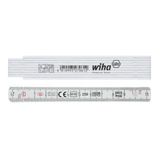 Wiha Gliedermaßstab Longlife® 1 m metrisch, 10 Glieder weiß