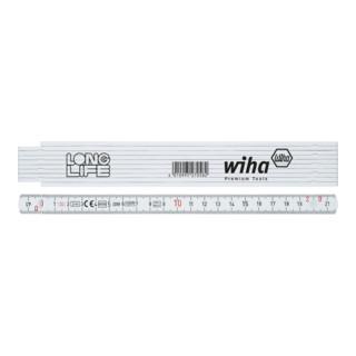 Wiha Gliedermaßstab Longlife® 2 m metrisch, 10 Glieder weiß