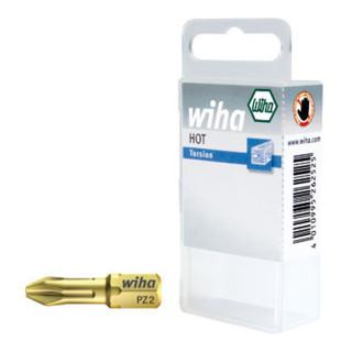 Wiha HOT-Torsions-Pozidriv-Bit 25mm in Kunststoffbox (7012 HOT) 10-tlg. PZ2