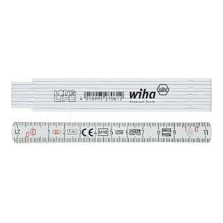 Wiha Longlife® Gliedermaßstab 1 m - 10 Glieder (410 1000) Gelb