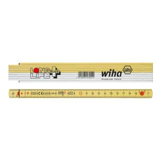 Wiha Longlife® Plus Gliedermaßstab 2 m - 10 Glieder (4102001)