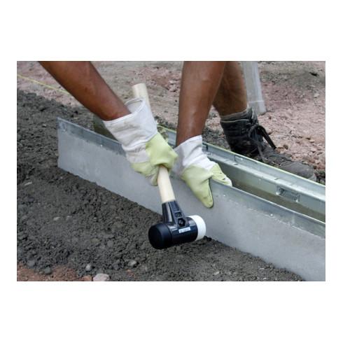 Wiha Schonhammer Safety weich/mittelhart mitHickory-Holzstiel, Rund-Schlagkopf