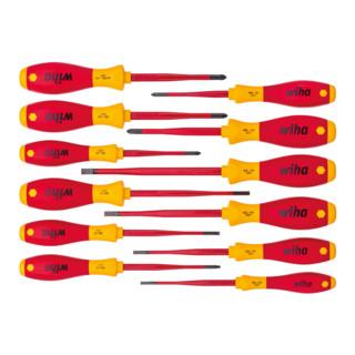 Wiha Schraubendreher Set SoftFinish® electric slimFix gemischt 12-tlg.