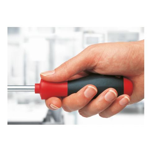 Wiha Schraubendreher SoftFinish Schlitz mit Rundklinge für tiefliegende Schrauben 5,5 mm x 125 mm