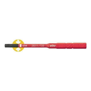 Wiha SoftFinish® electric slimBit Torx® (2831-15) T25 75 mm 6,0 mm