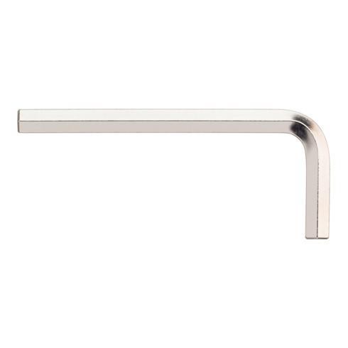 Wiha Stiftschlüssel Sechskant kurz, glanzvernickelt 2,5 x 57 mm, 20 mm