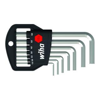 Wiha Stiftschlüssel Set im Classic Halter Sechskant 7-tlg. Glanzvernickelt, Länge Stiftschlüssel 46, 51, 57, 64, 72, 83, 94