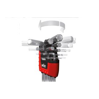 Wiha Stiftschlüssel Set im ErgoStar Halter Sechskant-Kugelkopf MagicRing® 9-tlg. mattverchromt