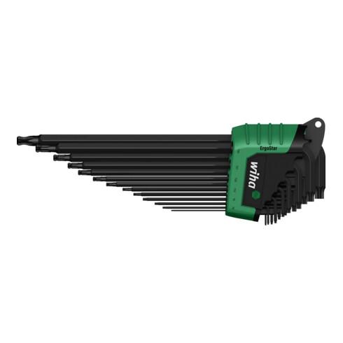 Wiha Stiftschlüssel Set im ErgoStar Halter TORXKugelkopf13-tlg.schwarzoxidiertinBlister (43847)