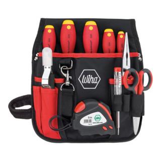 Wiha Werkzeug-Set Elektriker-Gürteltasche, 10-tlg. (9300-014)