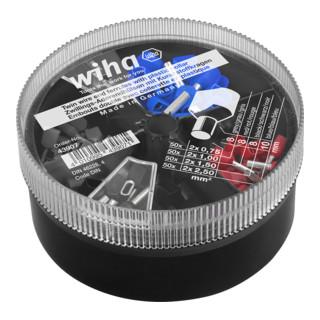 Wiha Zwillings-Aderendhülsen mit Kunststoffkragen Set 0,75 - 2,50 mm² in Streudose