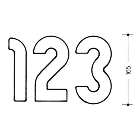Wilke Hausnummer Ziffer 5 (verschiedene Farben)