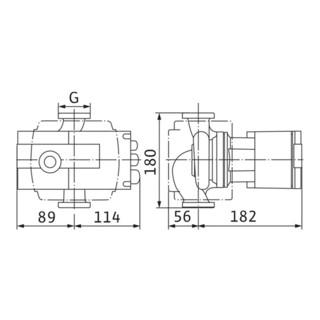 """Wilo Hocheffizienzpumpe Stratos mit Verschraubungsanschluss Typ 30/1-6, Rp 1 1/4"""", 180 mm"""