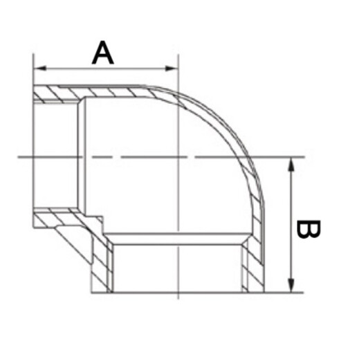 Winkel EN 10226-1 NPS 1 1/4 Zoll NPS2 1 Zoll IG reduziert SPRINGER