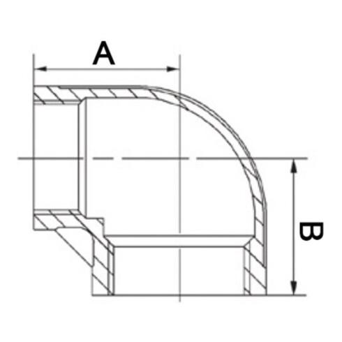 Winkel EN 10226-1 NPS 1/2 Zoll NPS2 3/8 Zoll IG reduziert SPRINGER