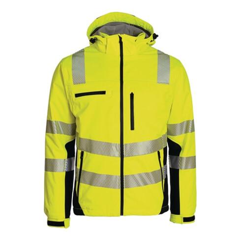 Winter-Warnschutzsoftshelljacke Gr.XXL gelb-schwarz ASATEX