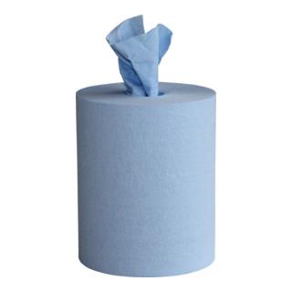 WIPEX WORK M Putztuchrolle, blau, 6 Rollen a 200 Tücher, lösemittelb., 24x38cm