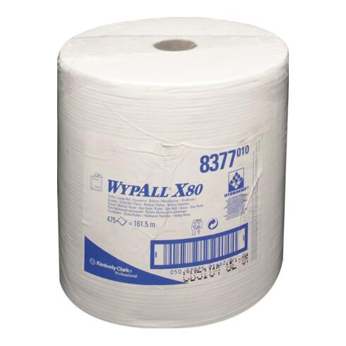 Wischtuch WYPALL X80 8377 L340xB315ca.mm weiß 1-lagig 475 Tü./Rl.