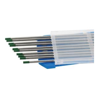 Wolframelektrode WP Grün 2,4x175mm EN 6848