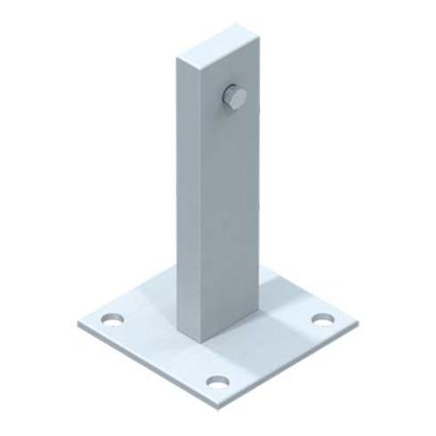 ZARGES Fußplatte Stahl verzinkt