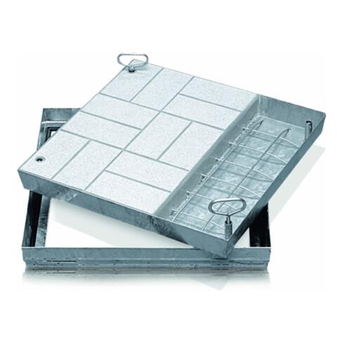 ZARGES Schachtabdeckung Stahl verzinkt 450 x 450 mm