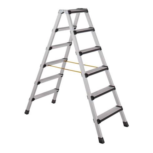 ZARGES Stufen-Stehleiter, beidseitig begehbar, gepolsterte Stufenvorderkante