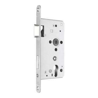Zimmertür-Einsteckschloss BAD 20/ 55/78/8mm DIN R silber rd Kl 3