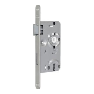 Zimmertür-Einsteckschloss BB 20/ 55/72/8mm DIN L silber rd Kl 1