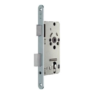 Zimmertür-Einsteckschloss PZW 20/ 55/72/8mm DIN L silber rd Kl 2