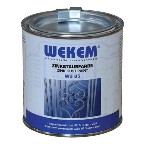 Zinkstaubfarbe WS85 dunkelgrau,metallisch ma 800g Dose WEKEM