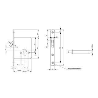 Zirkelriegelschloss 0371/0372 Zirkelr.BB VA ktg.20x172mm BKS