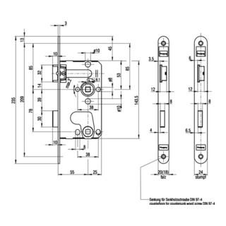 ZT-Einsteckschl.0215 BAD 20/ 55/78/8mm DIN R silber rd Kl 1 Zinkdruckgruss BKS