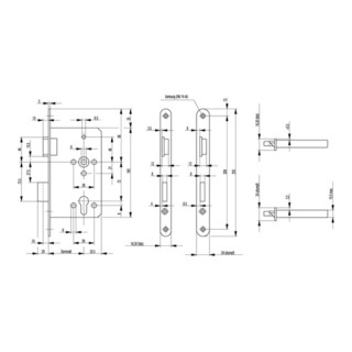 ZT-Einsteckschl.0515 PZ 20/ 55/72/8mm DIN R silber rd Kl 3 Zinkdruckgruss BKS
