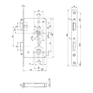 ZT-Einsteckschl.BAD 24/ 65/78/8mm DIN R silber rd Kl 3 Zinkdruckgruss