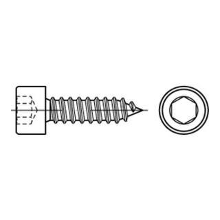 Zylinderkopf-Blechschraube VG 4,8x50 Edelstahl A2 blank Innensechskant